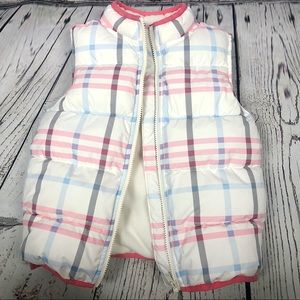 Gymboree pink & blue Puffer Vest
